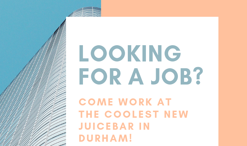 We're Hiring for Durham!